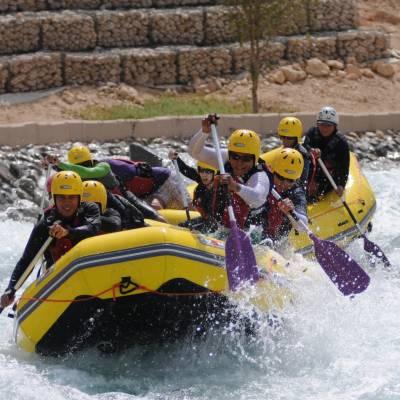 White water rafting, Abu Dhabi