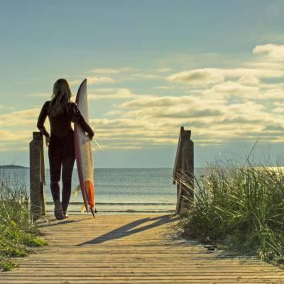 Surfing in Nova Scotia