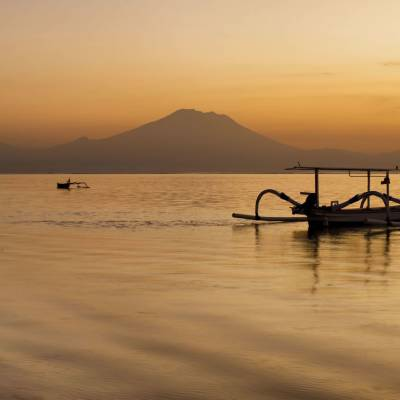 this is a photo of sunrise in Sanur Bali