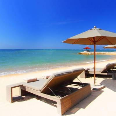 this is a photo of the beach at the Fairmont Sanur, Bali