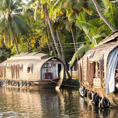 Traditional houseboat