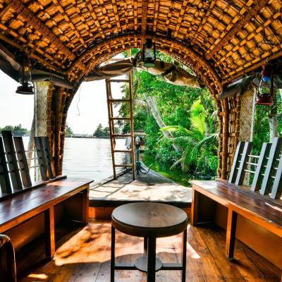 Inside of traditional houseboat