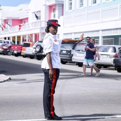 a person riding a skateboard down a street