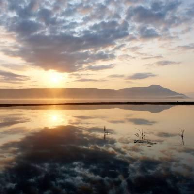 Sunset over Katmai National Park