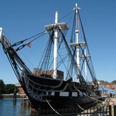 USS Constitution in Boston harbour