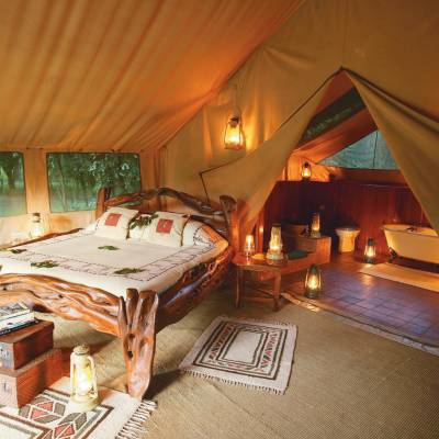 Tent bedroom at Africa Governor's Il Moran Camp