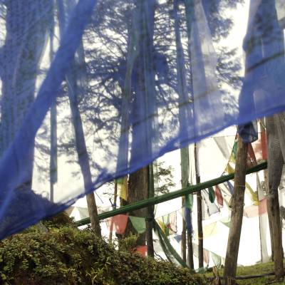 This is a picture of Prayer Flags in Bhutan