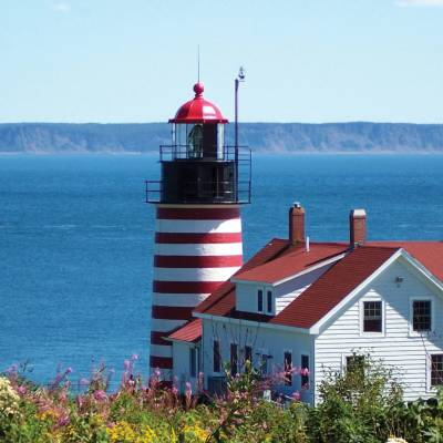 West Quoddy Head Light, Maine, New England