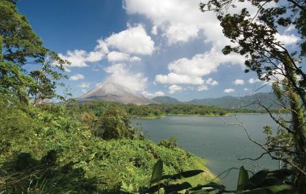 View across the Lake to the Volcano