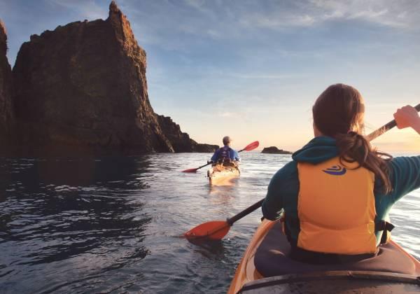 Kayaking at Three Sisters