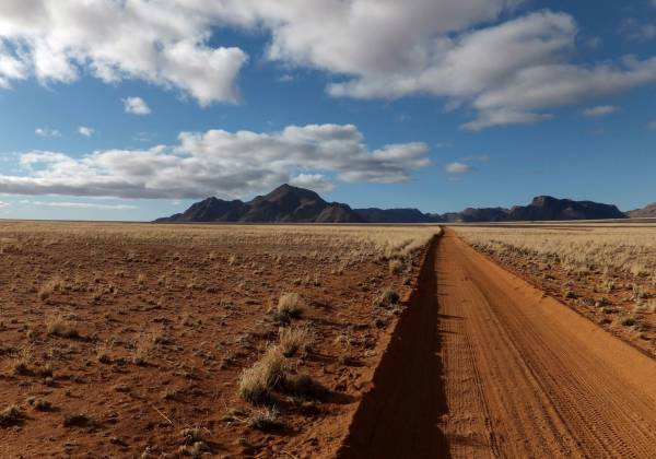 Desert Road in Namibia, Africa