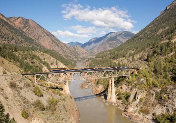 Fraser Bridge BC Cr Rocky Mountaineer