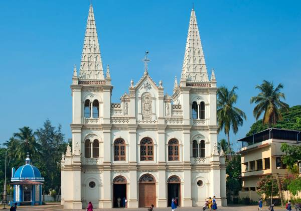 Santa Cruz Church in Cochin India