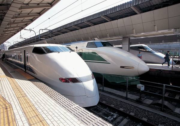 this is a photo of Bullet Trains in Japan