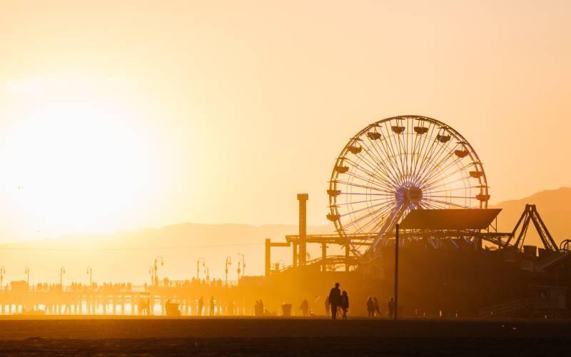 Sunset Santa Monica Pier