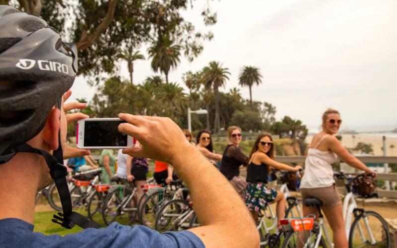 santa monica city bike tour santa monica california hugo king fretts img