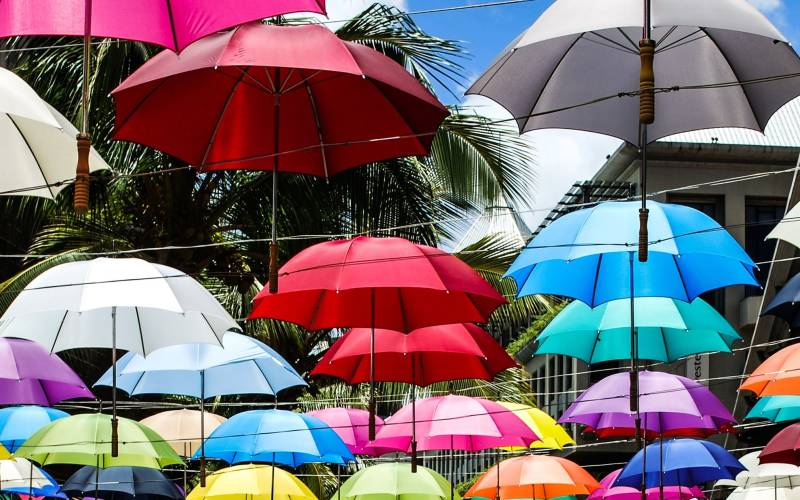 a colorful umbrella