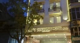 Frontansicht auf das Golden Lotus Luxury Hotel in Hanoi, Vietnam