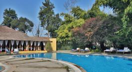 Enchanting Travels India Tours Corbett Hotels Jim's Jungle Retreat  - Pool