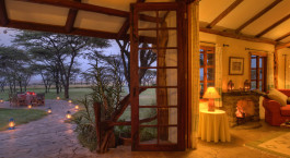 Loungeaussicht im Topi House in Masai Mara, Kenia