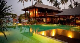 Auu00dfenanlage des Anantara Rasananda Koh Phangan Villas in Koh Phangan, Thailand