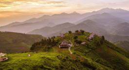 Auu00dfenansicht vom Hotel Topas Eco Lodge,  Sa Pa in Vietnam