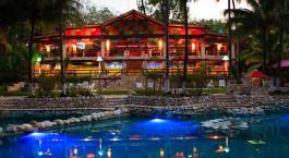 Auu00dfenansicht der Chan-Kah Resort Village in Palenque, Mexico