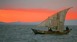 Panoramablick u00fcber den See im Hotel Mfangano Island, Viktoriasee, Kenia