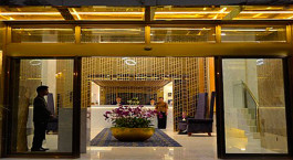 Entrance of Best western China Town, Yangon, Myanmar, Asia