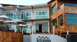Auu00dfenansicht des Iguana Crossing Hotel in Isla Isabela, Ecuador/Galapagos