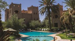 Swimmigpool im Ksar El Kabbaba im Skoura, Marokko