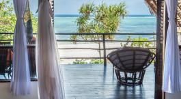 Balkonausblick im Sunshine Hotel, Sansibar, Tansania