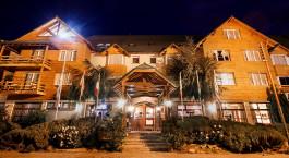 Exterior view of Kosten Aike Hotel in El Calafate, Argentina