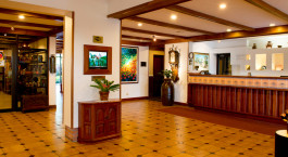 Rezeption im Hotel Bougainvillea, San Josu00e9, Costa Rica