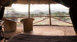 Zimmeraussicht im Kambi ya Tembo in West Kilimanjaro, Tansania