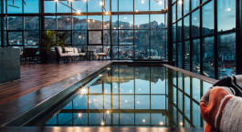Dining Hall and Pool, Atix Hotel, La Paz, Bolivia, South America