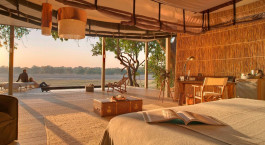 Ausblick von Hotel Chinzombo Lodge, South Luangwa in Sambia