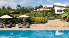 Pool im Hotel Tloma Lodge,  Ngorongoro Crater in Tansania