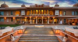 Auu00dfenansicht im Hotel Fateh Garh, Udaipur, Nordindien