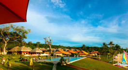 Poolbereich im Chen Sea Resort and Spa Hotel in Phu Quoc Island, Vietnam