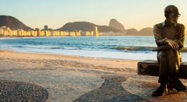 Blick auf den Strand  vom Hotel Miramar by Windsor, Rio de Janeiro in Brasilien