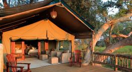 Zelt im Gunnu2019s Camp in Okavango Delta, Botswana
