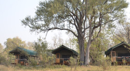 Auu00dfenansicht von Sango Safari Camp in Okavango Delta, Botswana