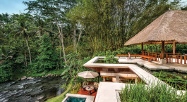Poolanlage auf der Four Seasons Resort Bali at Sayan, Ubud, Indonesien