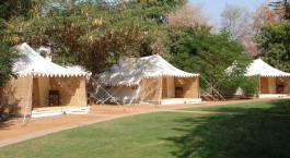 Auu00dfenansicht von Sher Bagh Ranthambore in Nordindien