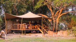Auu00dfenansicht im Hotel Mukambi Safari Lodge in Kafue, Sambia