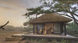 Auu00dfenansicht der  Phinda Vlei Lodge, Phinda Wildschutzgebiet in Su00fcdafrika
