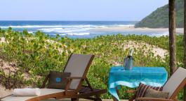 Terrasseaussicht im Hotel Thonga Beach Lodge in Isimangaliso, Su00fcdafrika