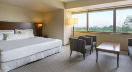 Doppelzimmer mit Ausblick im Nagoya Castle Hotel in Nagoya, Japan