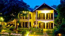 Auu00dfenansicht im La Maison dAngkor Hotel, Siem Reap, Kambodscha